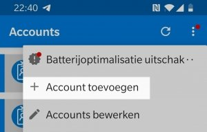 Microsoft Authenticator App nieuw account