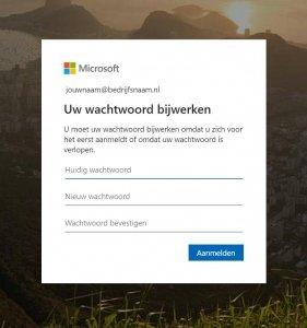 office.com wachtwoord bijwerken