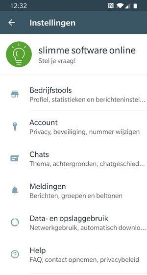 whatsapp business instellingen