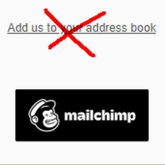 mailchimp add us to your address book verwijderen