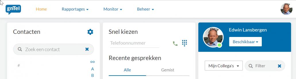 mijn.gntel.nl homepage