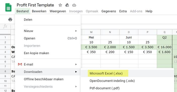 profit-first-template-kopie-maken-excel