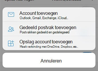 Microsoft 365 faq Outlook App gedeelde mailbox openen