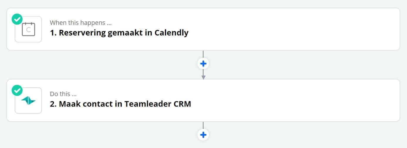 Zapier voorbeeld calendly - teamleader