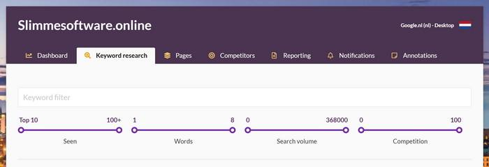 Wincher review keyword research