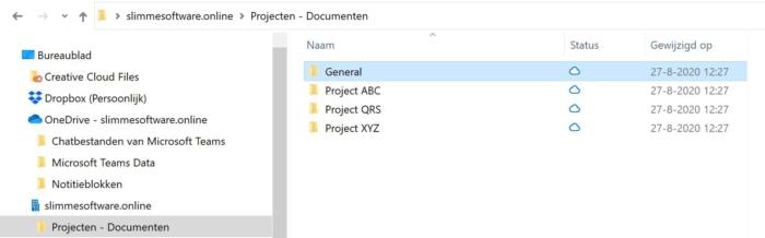 Sharepoint documenten in verkenner