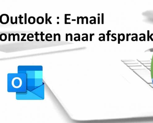 e-mail omzetten in afspraak